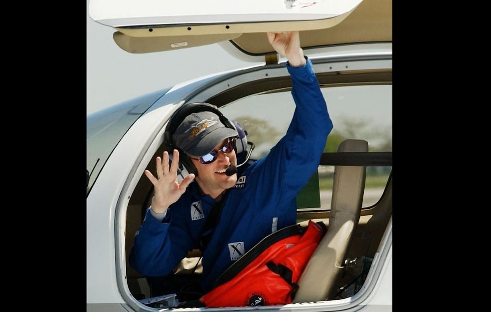 Erik Lindbergh in the New Spirit of Saint Louis.