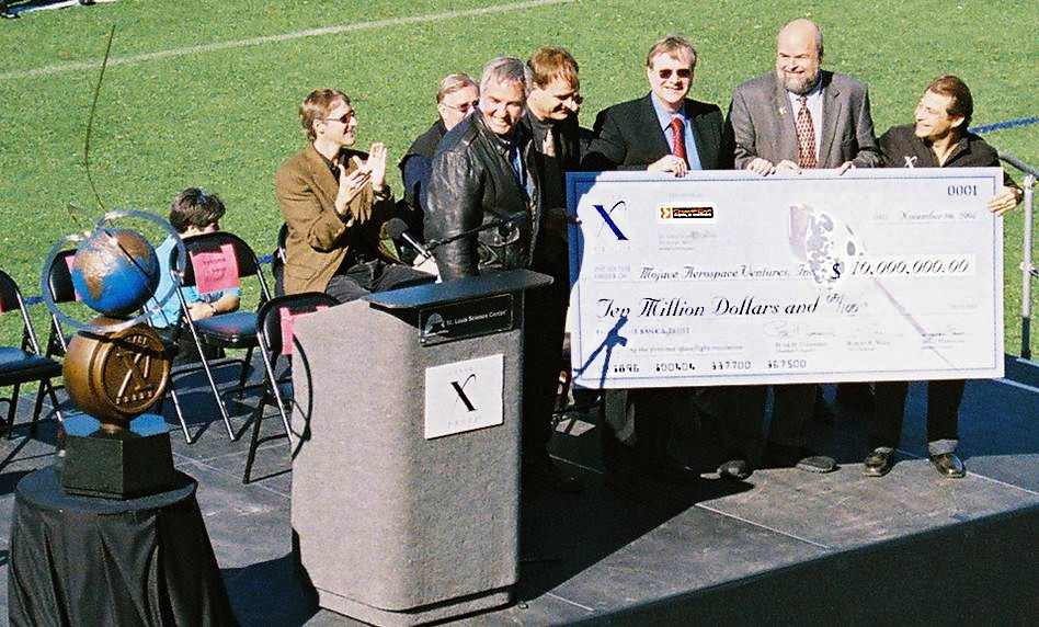 XPRIZE awards 10 million to Mojave Aerospace Ventures. A Paul Allen-back, Burt Rutan-led team.