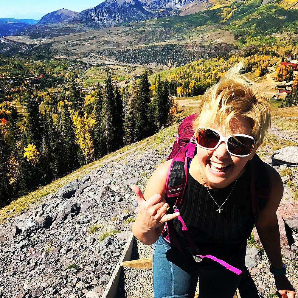 Telluride Colorado, hiking, Lyn Lindbergh