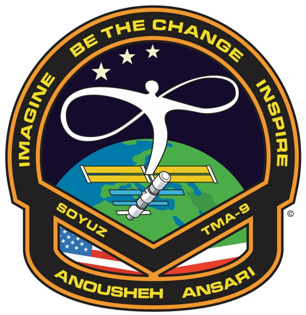 Anoushesh Ansari's badge she wore in space.