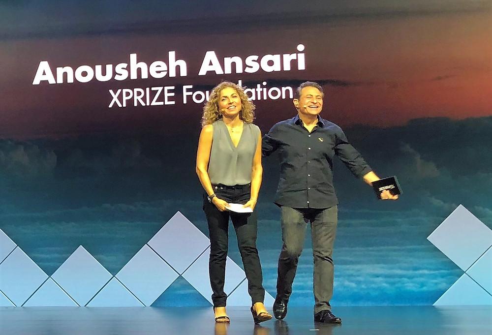Anousheh Ansara and Peter Diamandis at the 2018 Visioneering Event.