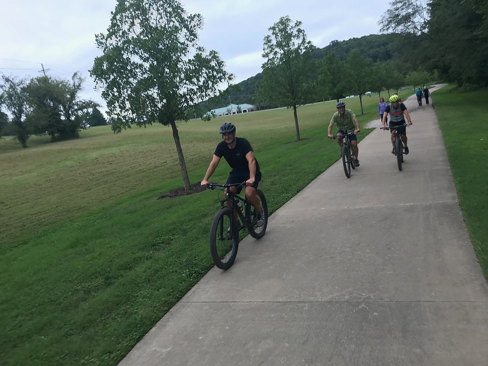 Part of the greenway trail Gary mentions in the episode. This makes NW Arkansas one of the most bike friendly cities in the nation.