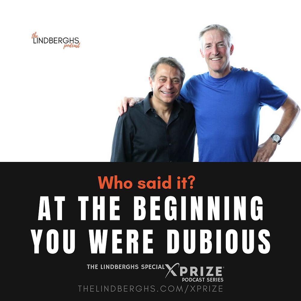 Peter Diamandis and Erik Lindbergh