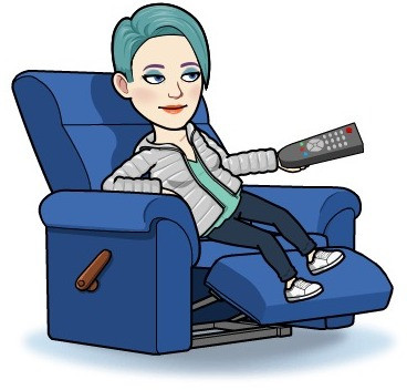 lady on chair with remote control