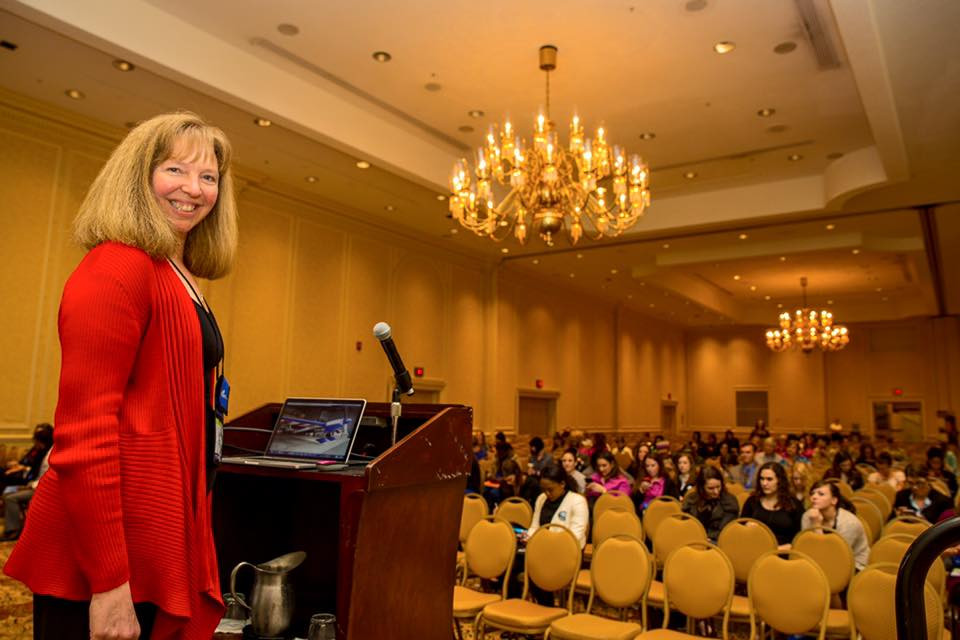 Inspiring women and girls. Speaking at the Women in Aviation International conference, Nashville, TN.