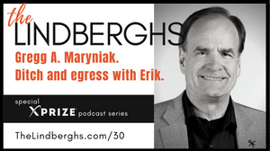 Gregg A. Maryniak. Ditch and egress survival training with Erik Lindbergh.