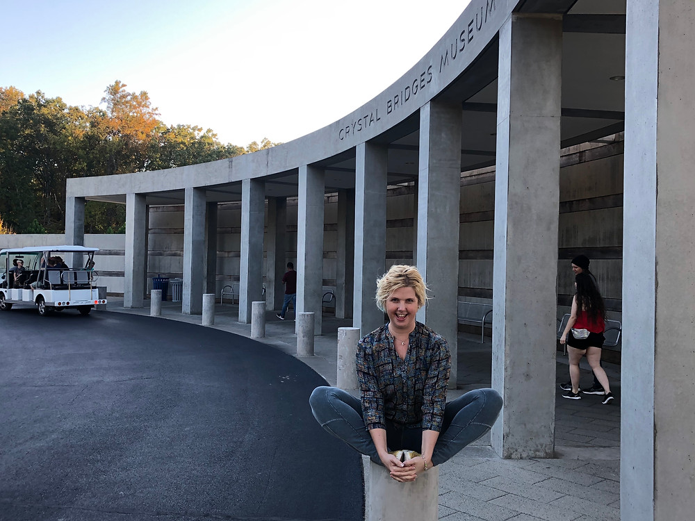 Entrance to the Crystal Bridges Museum. (Lyn)