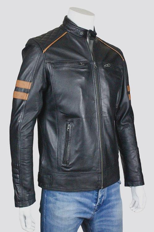 Wolverine Mens Black Leather Jacket