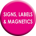 Signs, Labels Magnetics Far Awat Art Whi