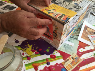 Memory boxes, reminiscence workshop, Dem