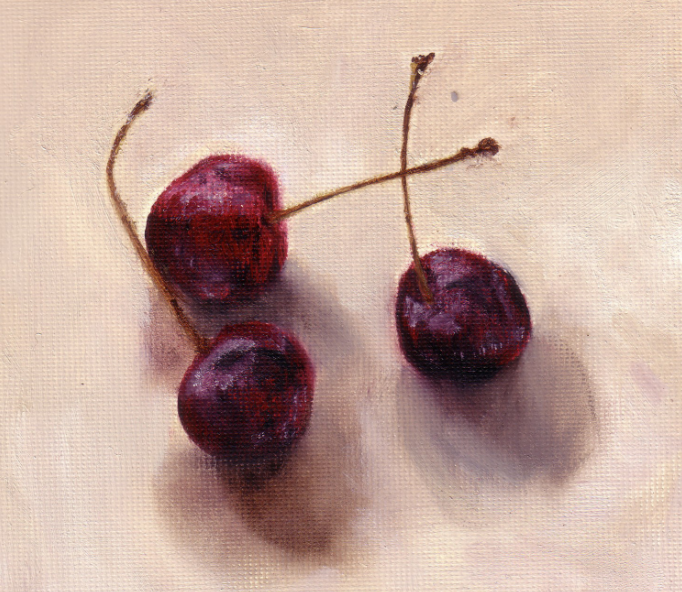 Cherries oil on canvas SOLD