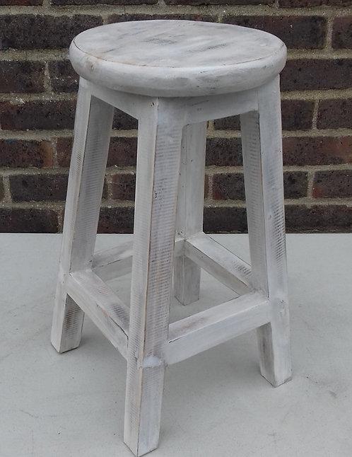 Plant stand/ stool whitewash wood