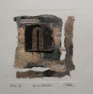 Invitation - Mixed Media collograph and