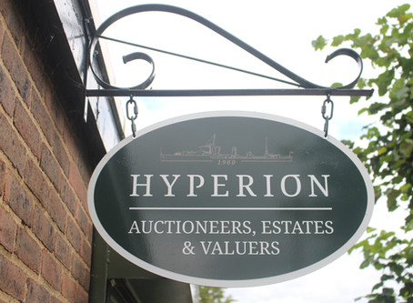New signage for Hyperion Auctions in St Ives