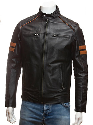 Wolverine Mens Black Leather Jacket