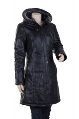 Lucy Padded Womens Leather Coat