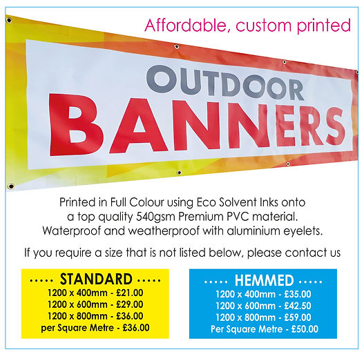 Outdoor & Indoor Banners Far Away Art Pr