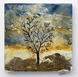 February tree ink and watercolour with c