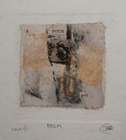 POEM - mixed media collograph & book