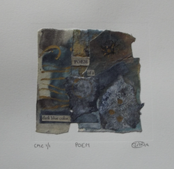 Poem - collograph, monoprint and collage
