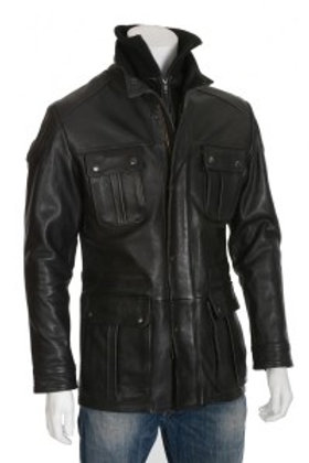 The Wrangler Mens Leather Jacket