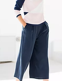 Marble navy culottes