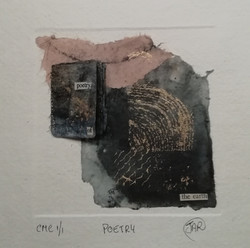 Poetry - Mixed Media collograph and book
