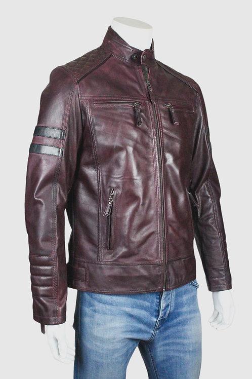 Wolverine Mens Bordeaux Leather Jacket