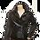 Thumbnail: Sandy Ladies Classic Retro Black Leather Biker Jacket