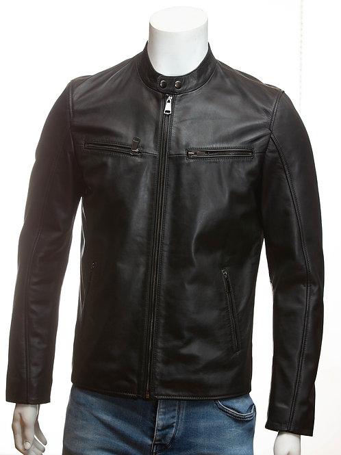 Boss Luxury Super Soft Italian Nappa Black Leather Jacket