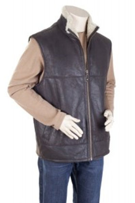 Sheepskin Mens Leather Gilet