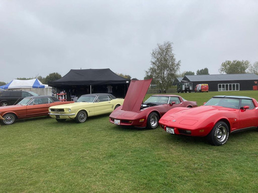 Carrot Town Garage Car Club at Stonham Barns American Car Show 2020