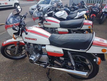 Two Suzuki GS1000S Motorcycles at Stevelin