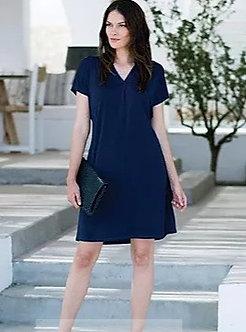 Marble navy dress