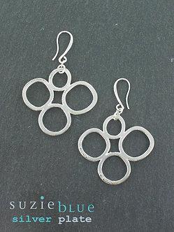 Suzie Blue bubble earrings