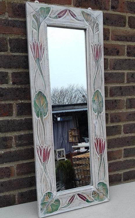 Whitewash with colour detail mirror