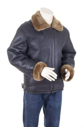 B3 Mens Flying Jacket With Ginger Sheepskin