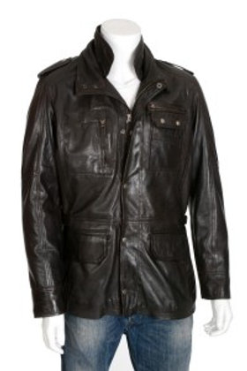 Ducatti Mens Brown Leather Jacket