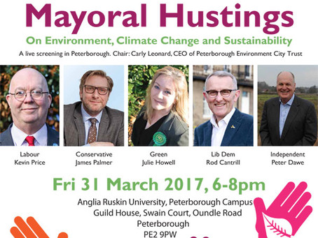CHANCE TO QUIZ MAYORAL CANDIDATES ON GREEN ISSUES