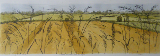 High field road watercolour and ink SOLD