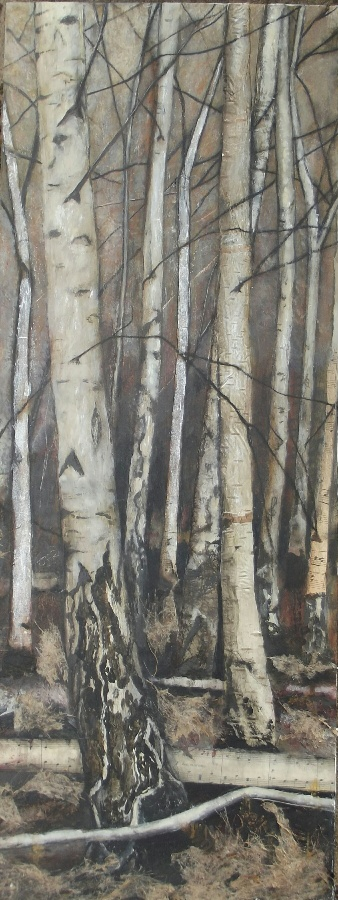 Rythmn of the wood ll - mixed media - SOLD