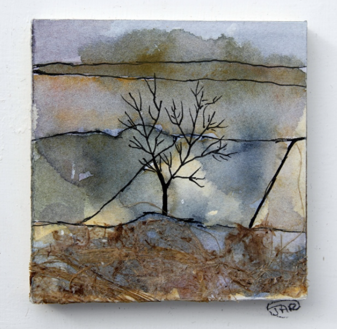 Winter tree ink and watercolour with col