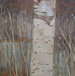 By the pond mixed media collage SOLD