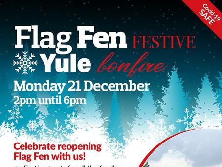 Yule Bonfire Festive Event To Mark Reopening Of Flag Fen