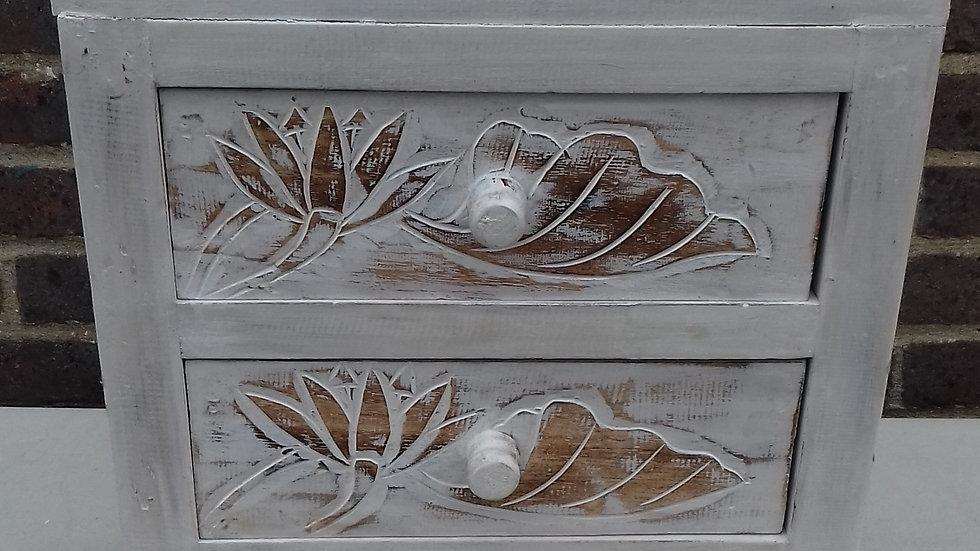 3 Drawer floral design bedside table