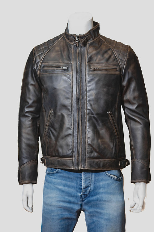 McQueen Antique Washed Leather Jacket