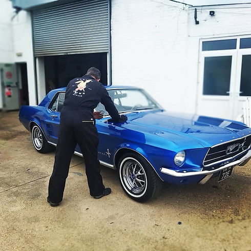 1967 Ford Mustang V8 Carrot Town Garage.