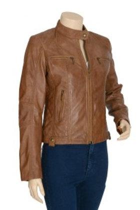 Trixie Camel Womens Leather Jacket
