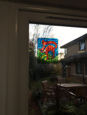Stain glass effects with teens in hostel