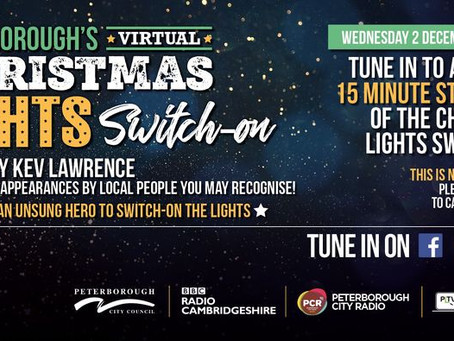 TUNE INTO VIRTUAL CHRISTMAS LIGHTS SWITCH ON